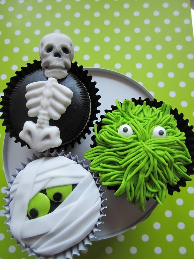 Halloween Green Cupcakes