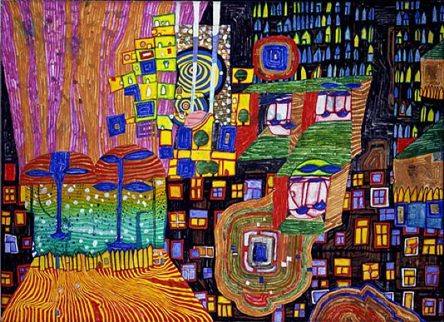Hundertwasser Painting  4