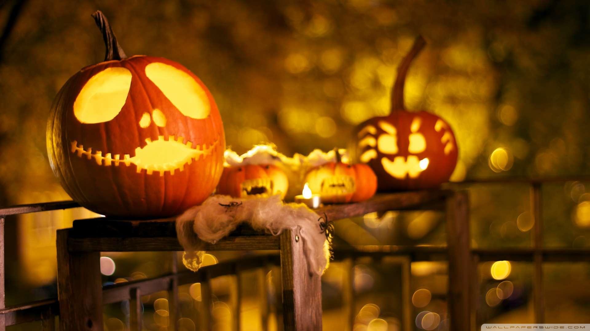 Jack and the Devil  halloween pumpkin
