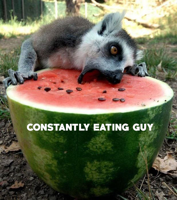 constantly eating one