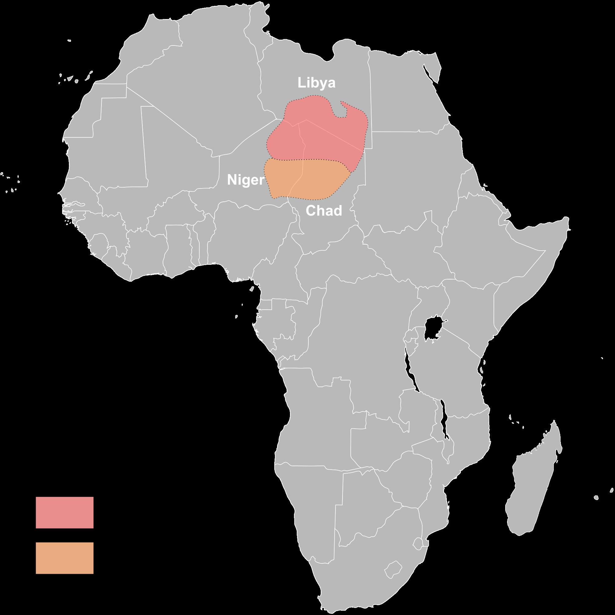 The habitat of Toubou tribe.
