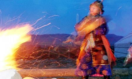 Dancing shaman