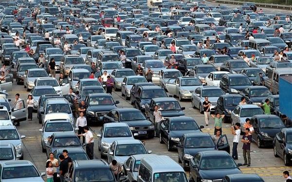 traffic jam china