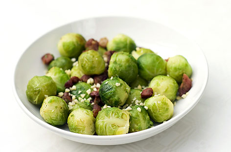 Brussels Sprouts Salad with Nuts