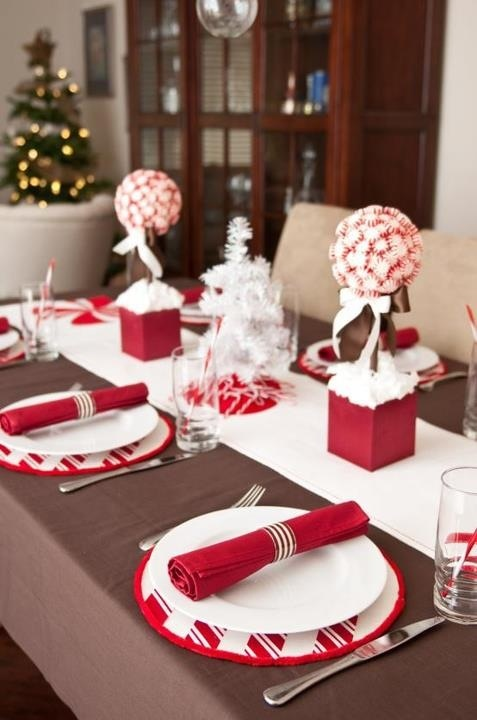 Christmas red table decoration