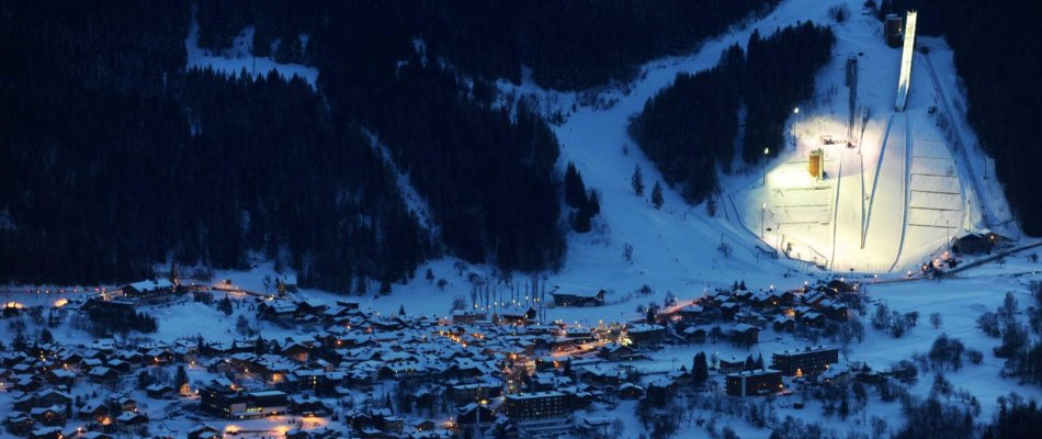 Courchevel resort ski slopes France