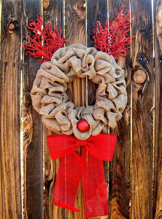 Deer Christmas Front door decoration