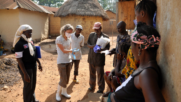 Ebola in Africa doctors saving lives