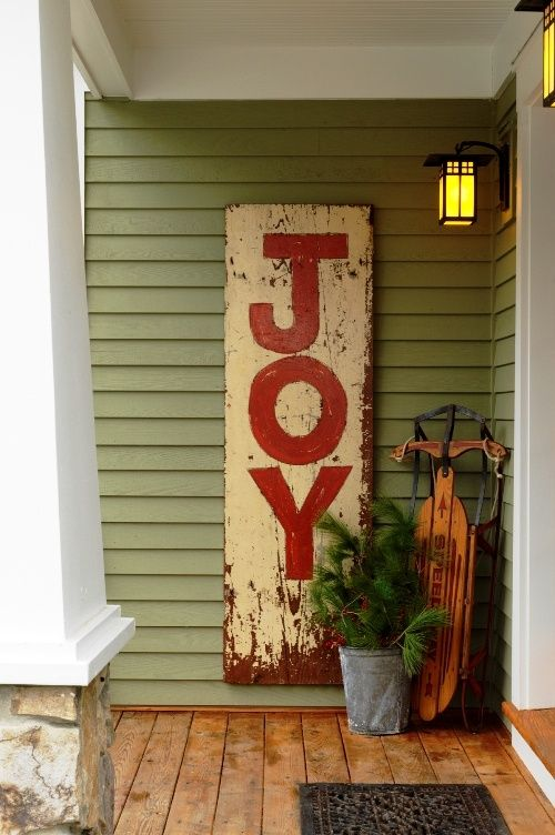 Front Door Christmas Decoration with Sled and Ice skates 1