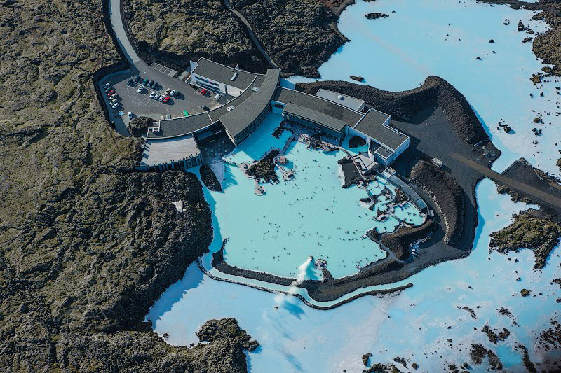 Geothermal waters Blue lagoon Iceland