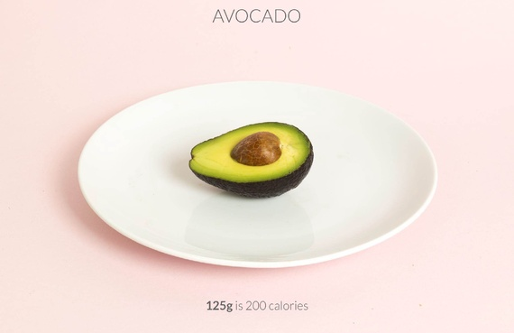 Half avocado calories