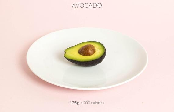 Half avocado calories