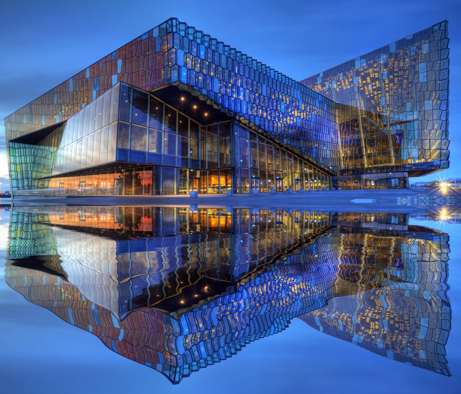 Harpa dazzling concert hall Iceland copy