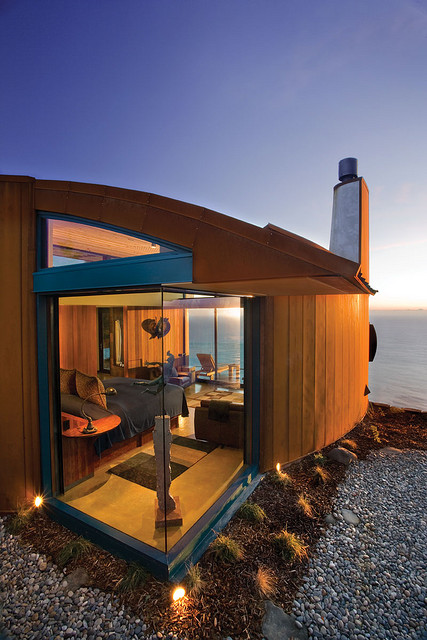 Hotel Post Ranch bedroom with ocean view in California