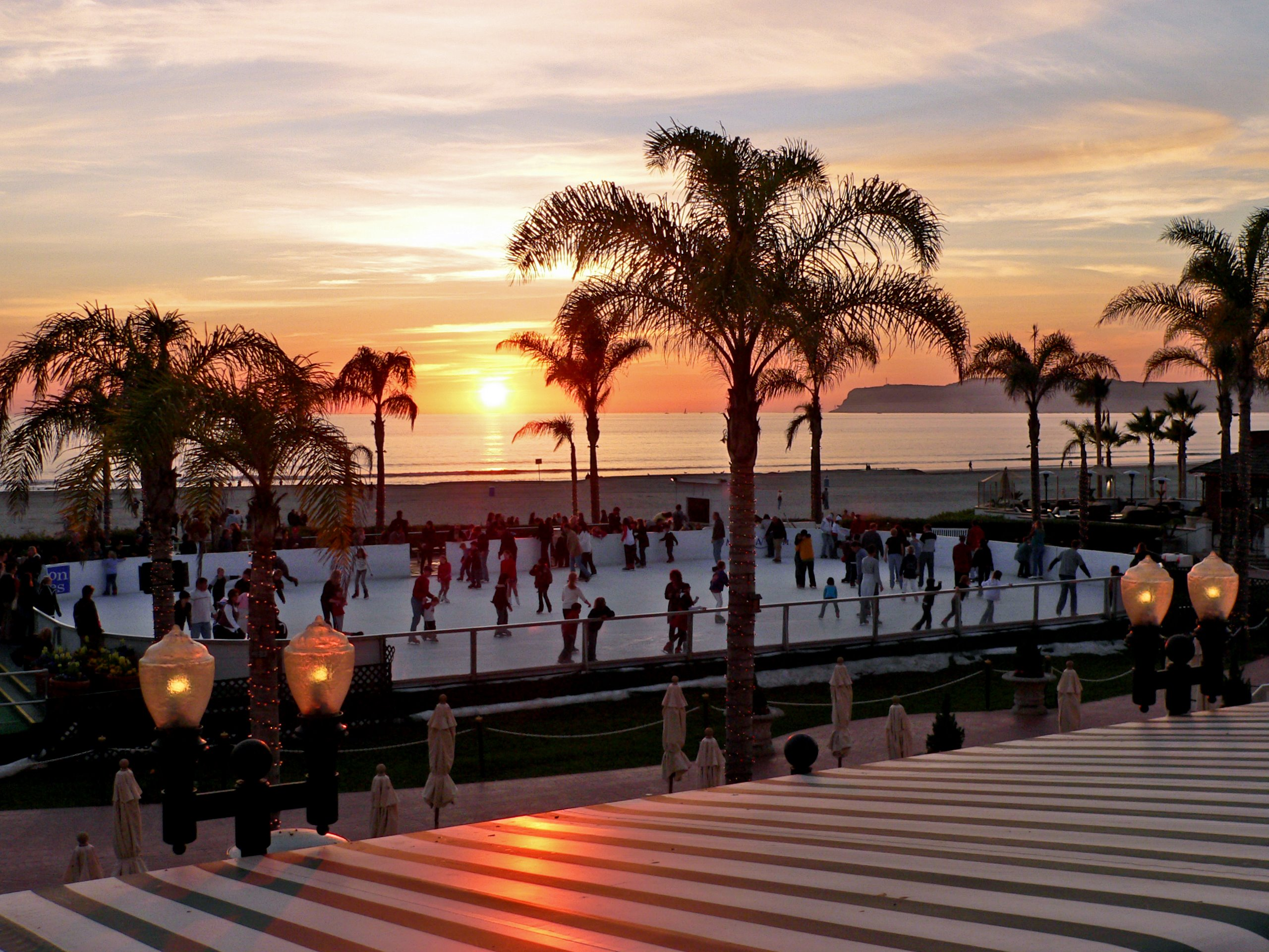 Ice rink by the sea, San Diego