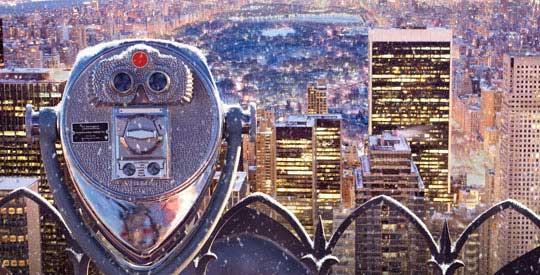 New York City binocular winter time