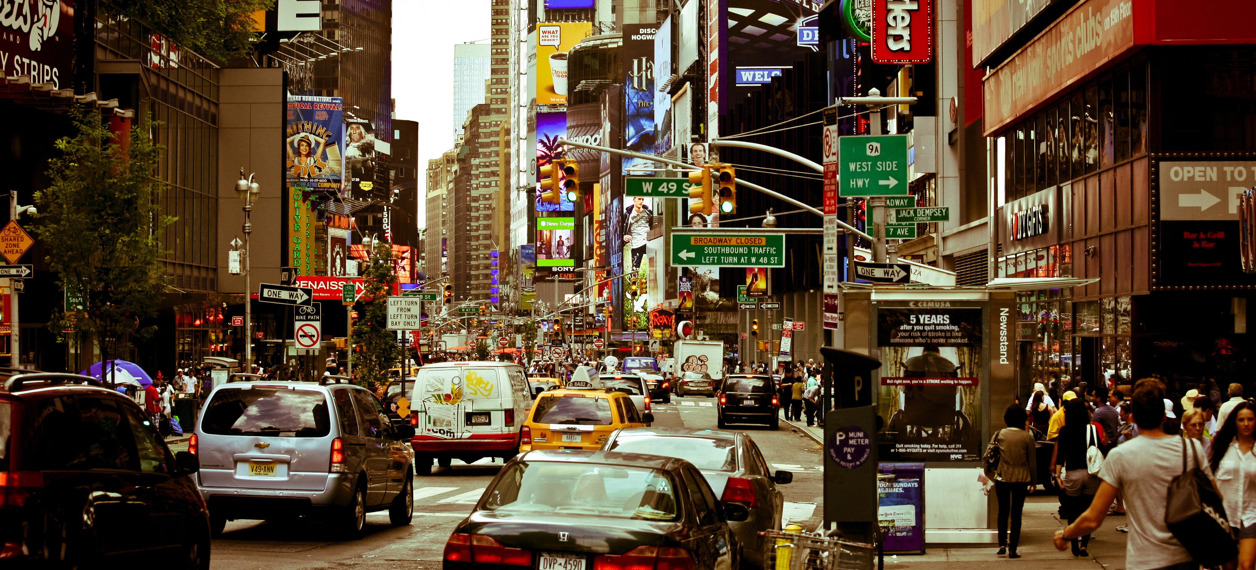 New York city life traffic jam people