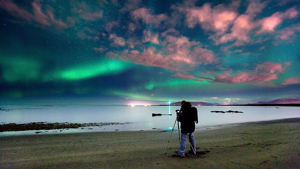 Northern lights Iceland photographer