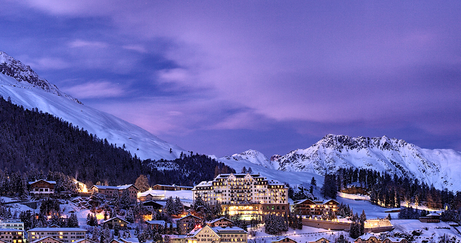 St. Moritz in winter time view