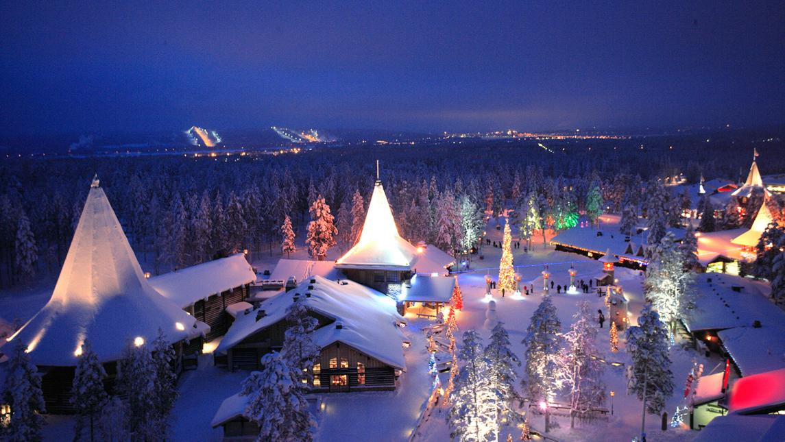 The village of Santa Claus, Rovaniemi, Finland