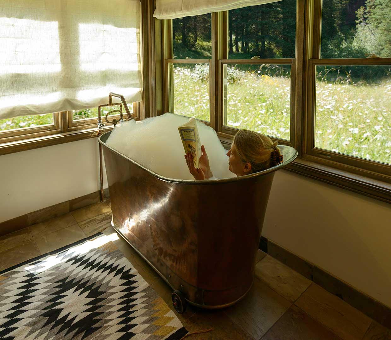 Vertical Log Cabin in Dunton Hot Springs Colorado