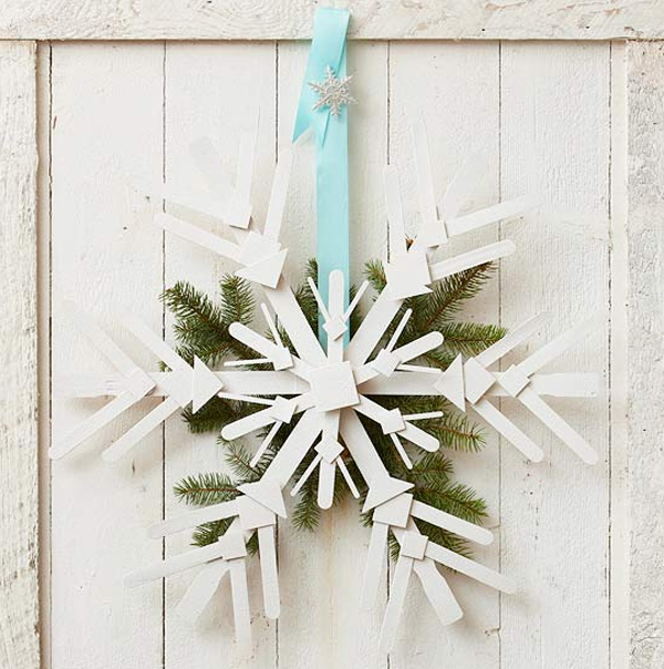 White Christmas Door Decorations