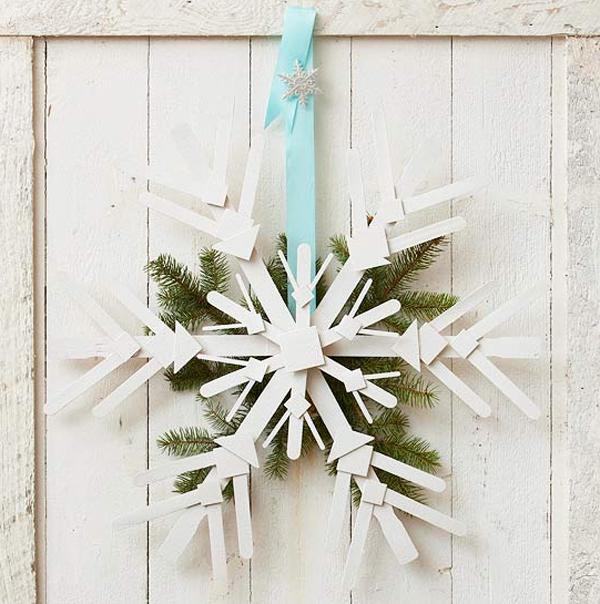 White Christmas Door Decorations