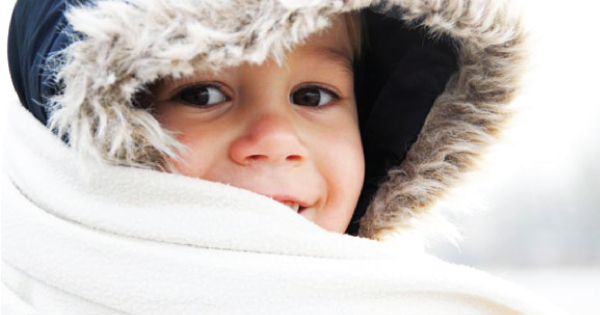 baby wirh coat in winter time