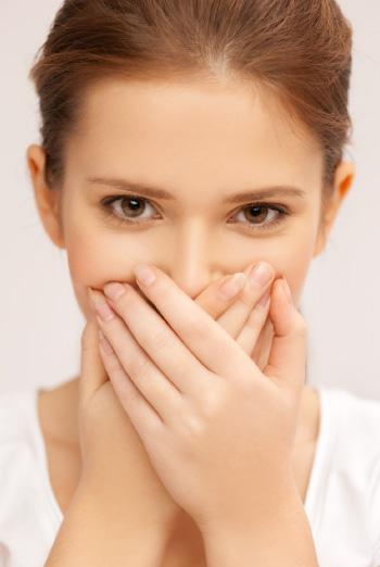 bad breath halitosis woman