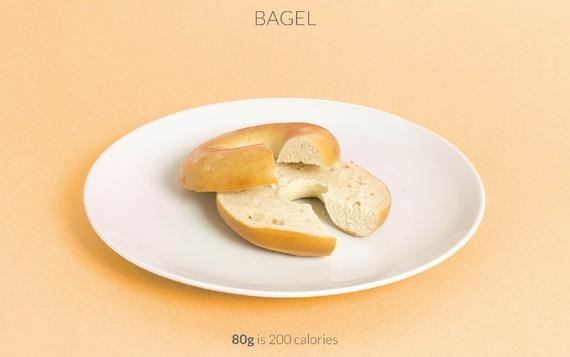 bagel calories