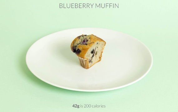 half blueberry muffin calories