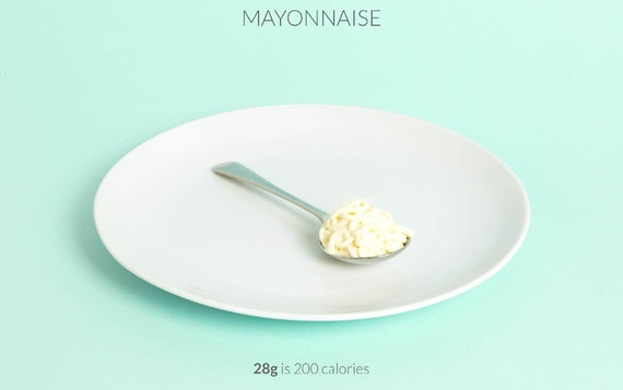 spoon of mayonnaise calories