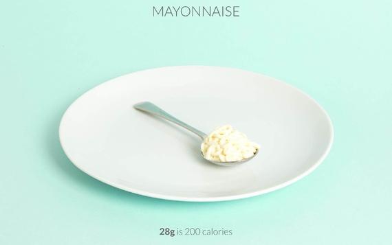 spoon of mayonnaise calories