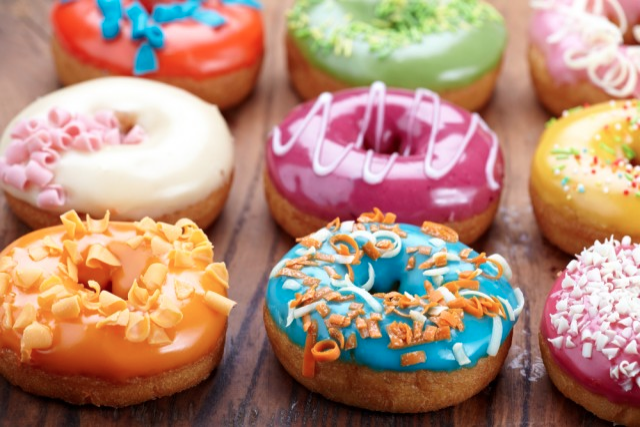 tasty colorful prety donuts