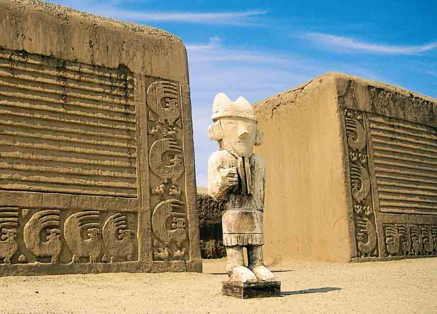 Chan Chan ancient city in Peru