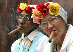Cuban cigar smokers