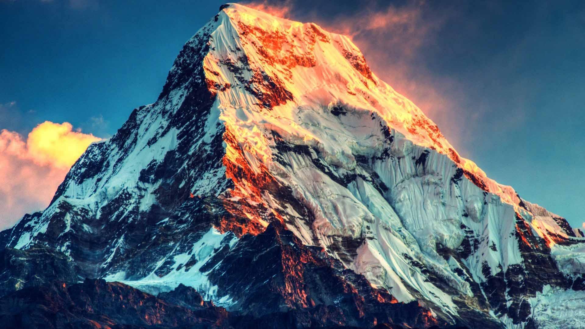 Everest Peak Sunset