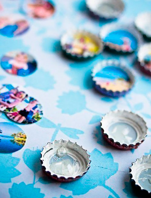 Handmade Photo frames of bottle metal caps 2