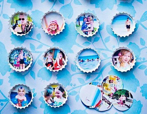 Handmade Photo frames of bottle metal caps 6