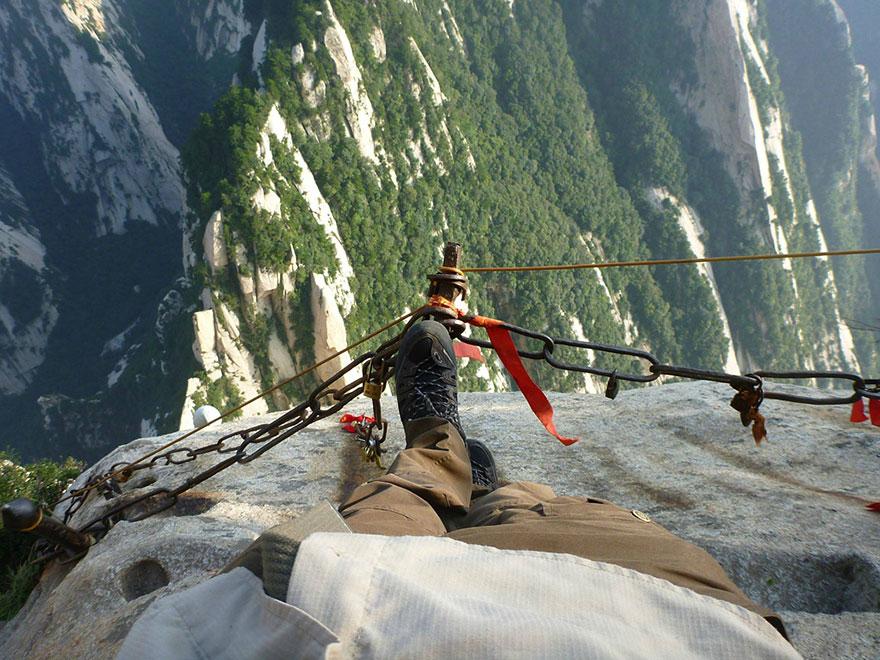 Hiking Huashan Mountain China