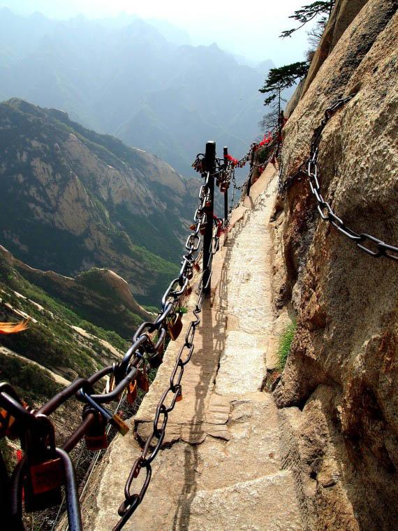 Huashan Mountain stairs