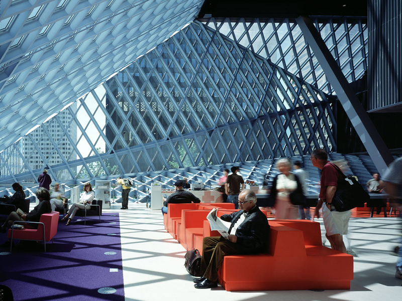 Seattle Central Library by Rem Koolhaas, Washington 4