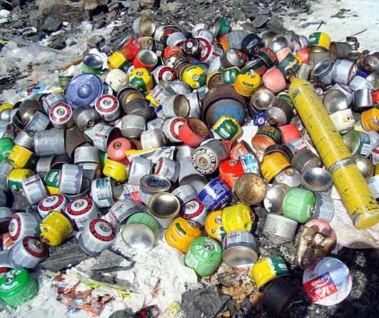Trash on Everest