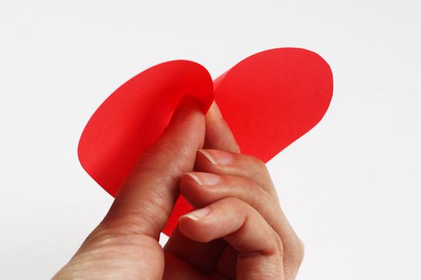 Valentine's day idea heart paper 3