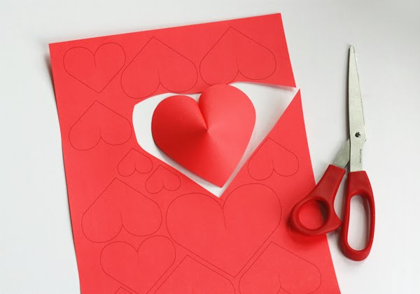 Valentine's day idea heart paper