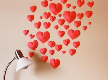 st Valentine's day idea heart paper