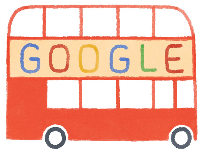 60th anniversary of the unveiling of the first Routemaster bus doodle