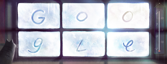 Anniversary of the coldest temperature ever recorded in Canada google doodle