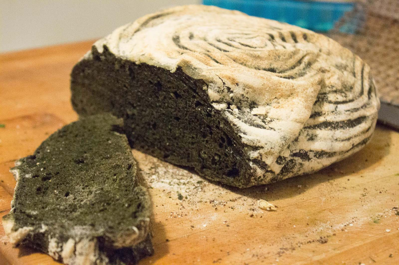 Bread with algae - Swansea, Wales