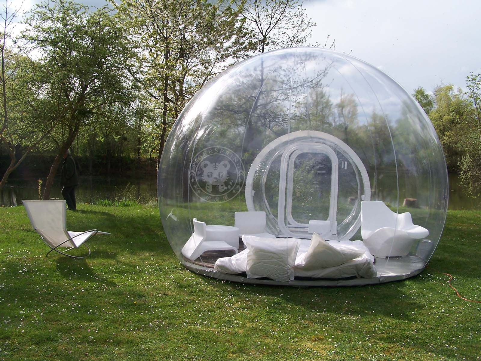 Crystal bubble tent